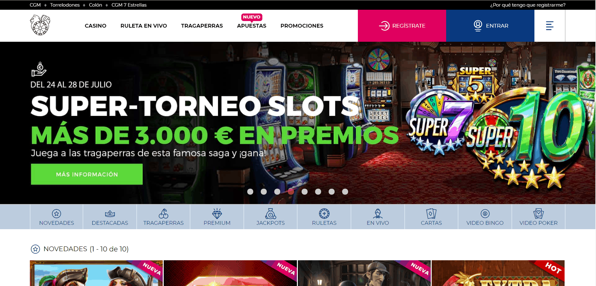 Casino Gran Madrid Online desktop