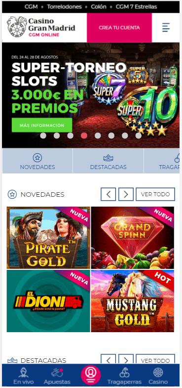 Casino Gran Madrid Online mobile