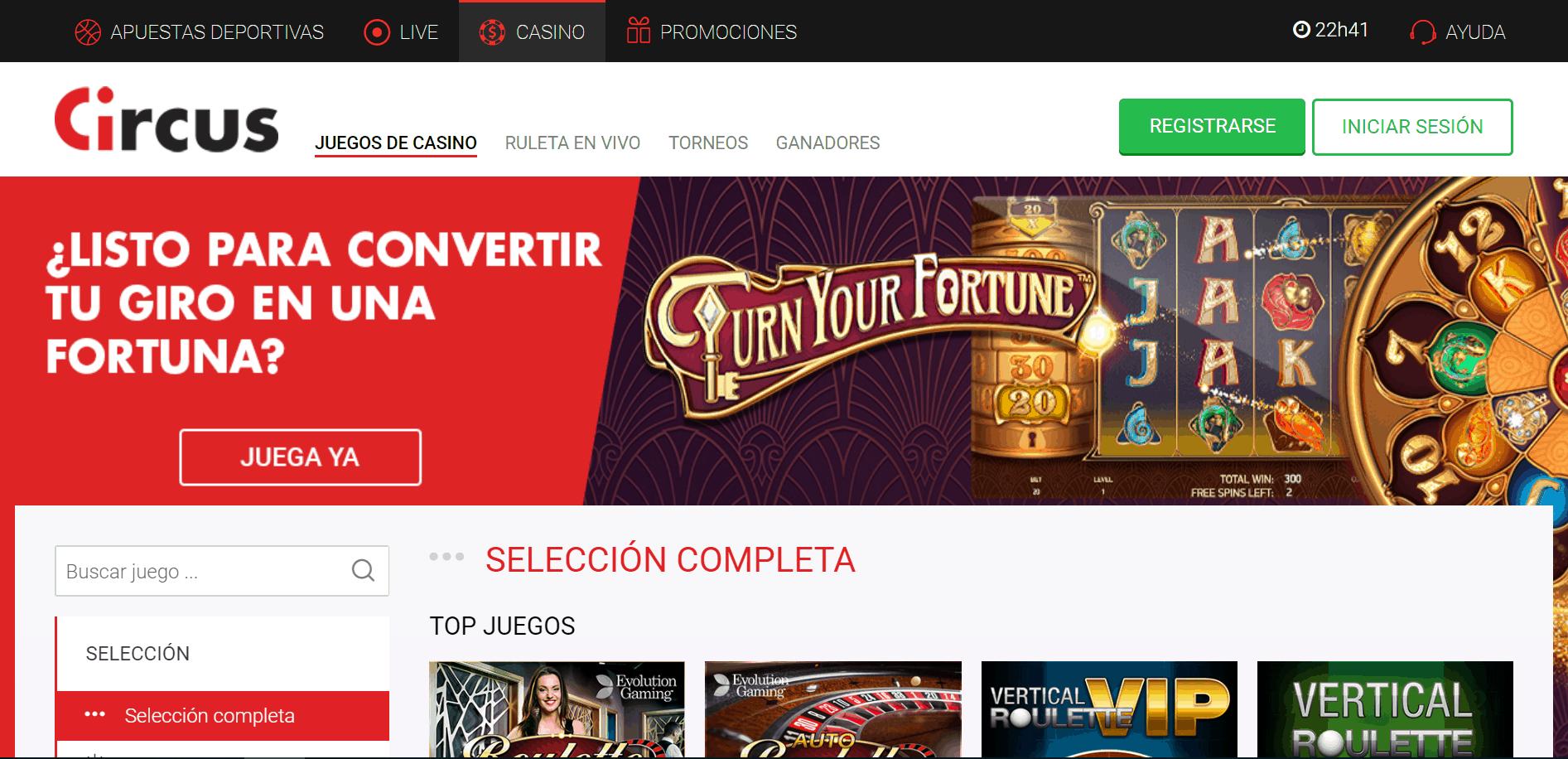 Circus.es desktop