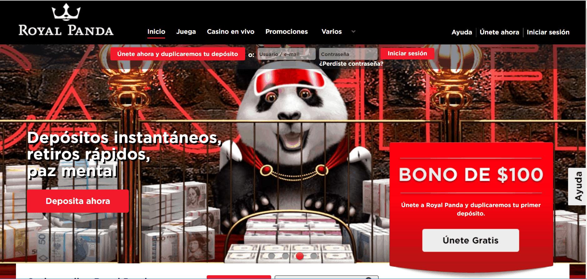 Royal Panda desktop