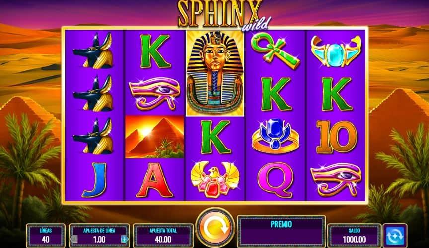 Símbolos, Gráficos, sonidos y animaciones de Sphinx Wild
