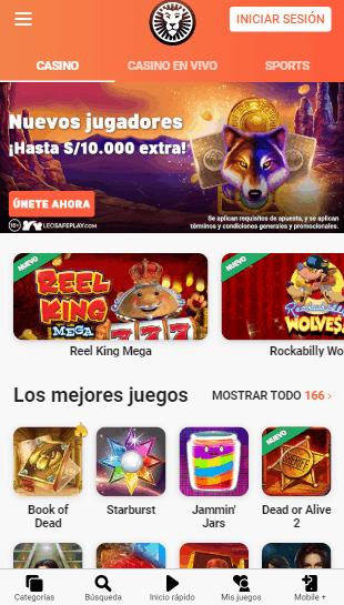 Leovegas Perú  mobile