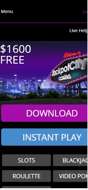 JackpotCity Casino mobile