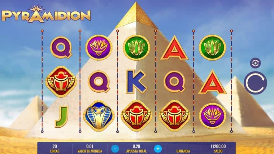 Símbolos, Gráficos, sonidos y animaciones de Pyramidion