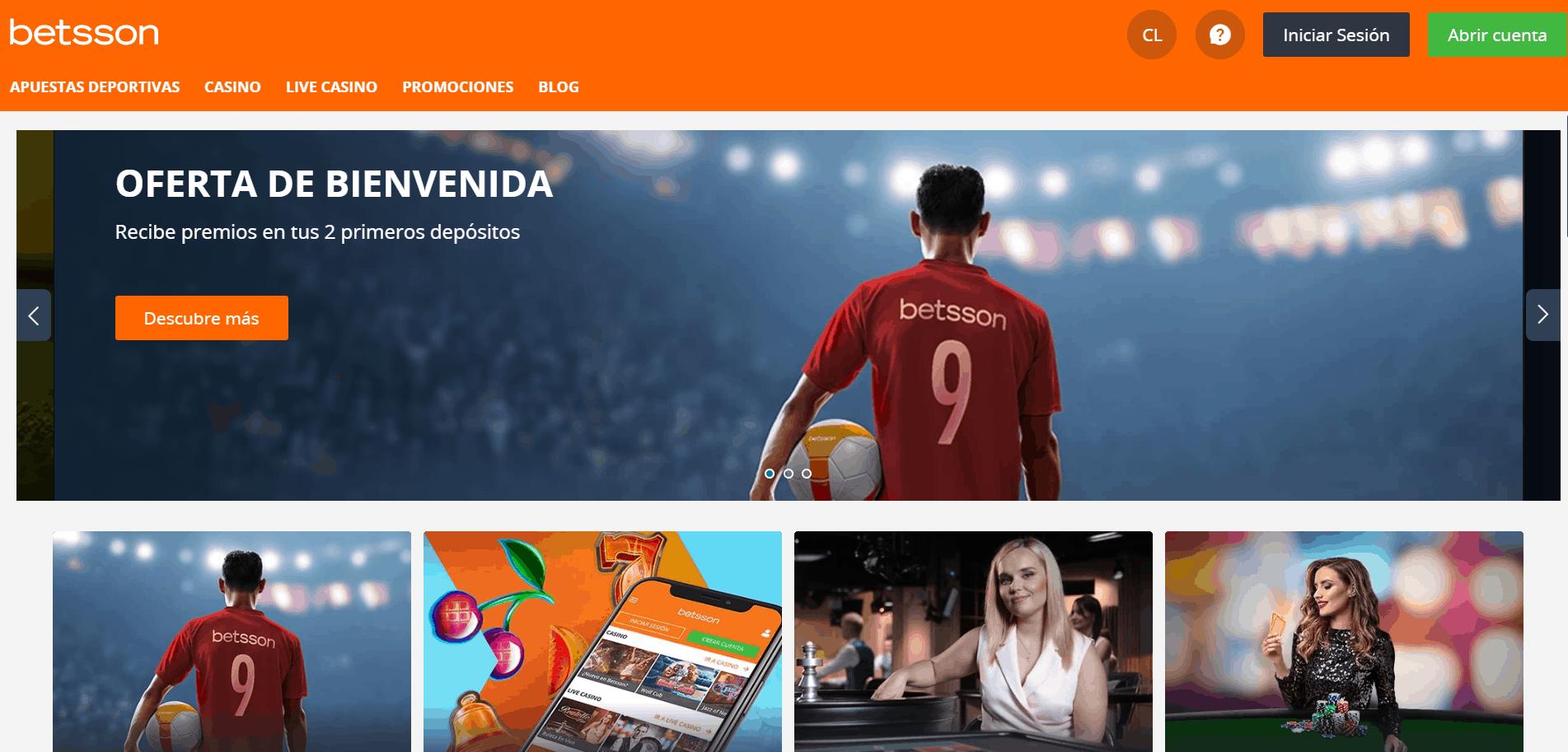 Betsson Chile desktop