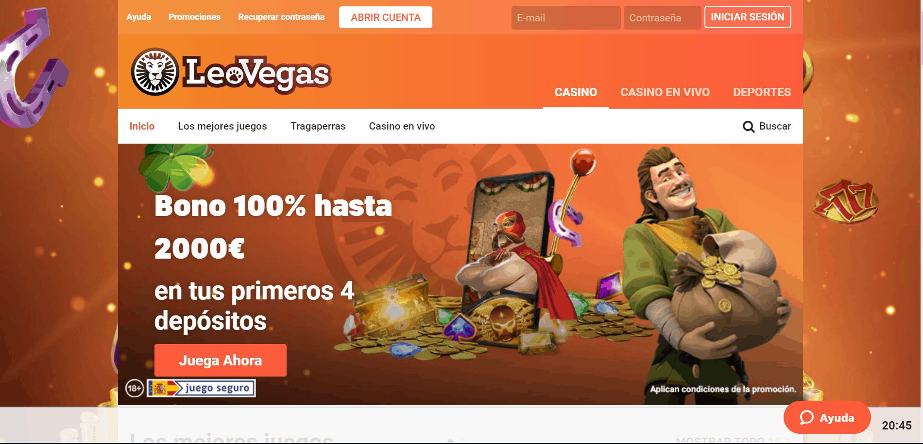 Leovegas desktop