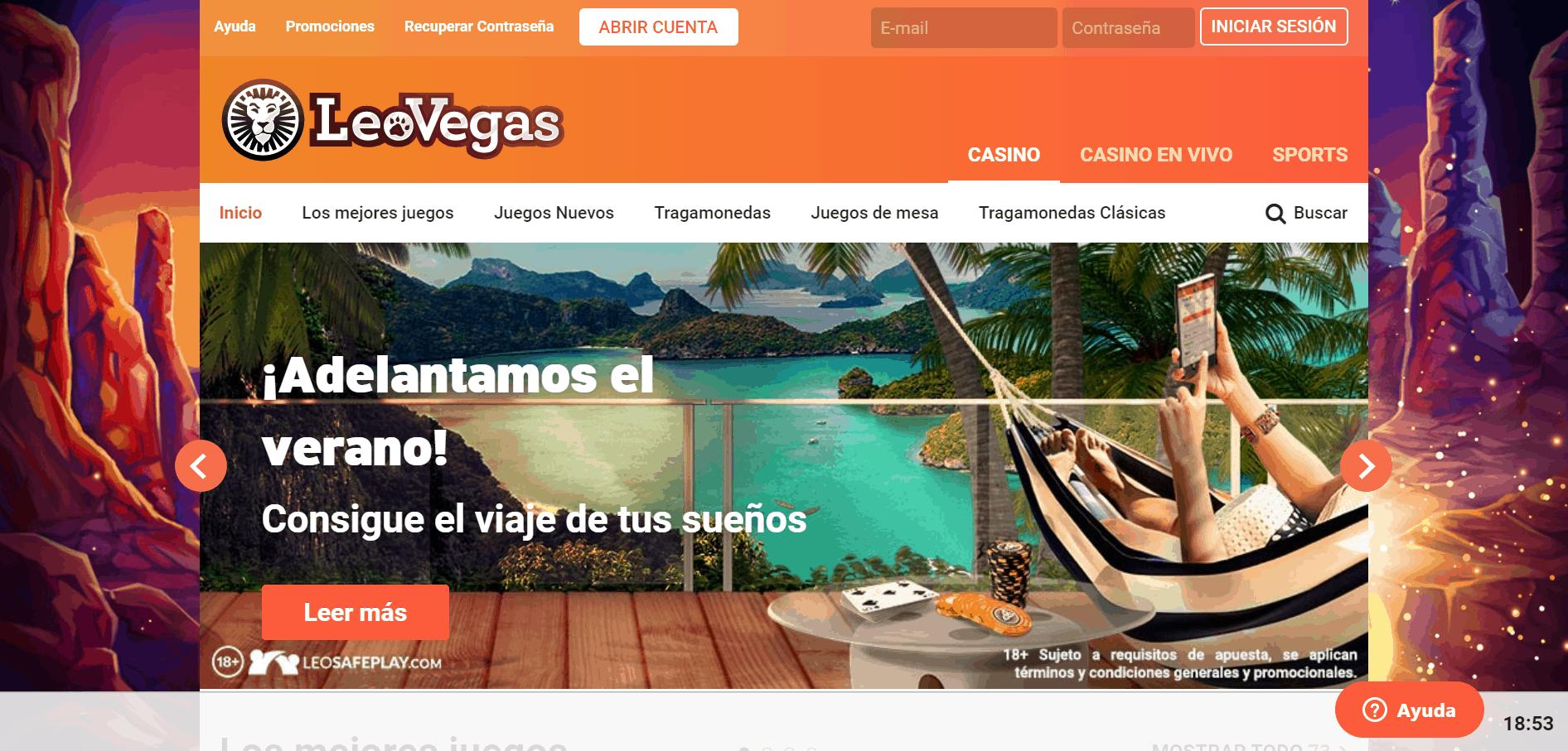 Leovegas Chile desktop