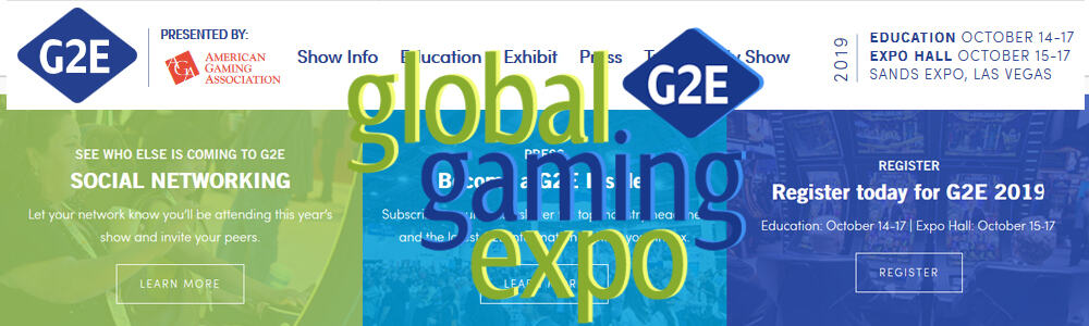 G2E 2019 en la Sands Expo de Las Vegas, Nevada