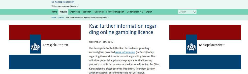 Aplazamiento del mercado de juego online holandés