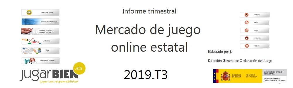 Publicado el tercer informe trimestral 2019 de la DGOJ