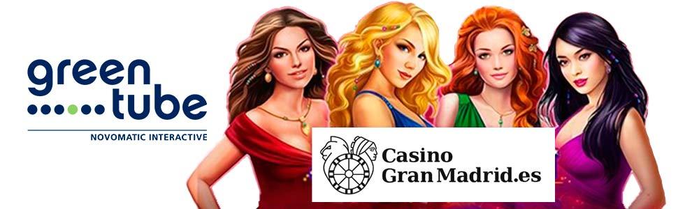 Juegos GreenTube en Casino Gran Madrid Online