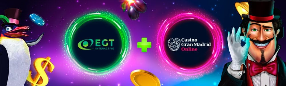 Slots de EGT disponibles en Casino Gran Madrid