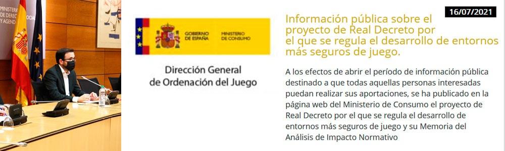 Nuevas regulaciones juego online España